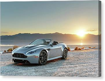 Aston Martin V12 Vantage S Roadster Canvas Print by Drew Phillips