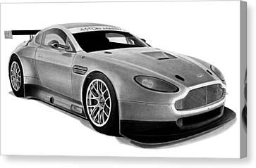 Racing Canvas Print - Aston Martin Vantage by Lyle Brown