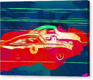 Aston Martin Canvas Print - Aston Martin Vs Porsche by Naxart Studio
