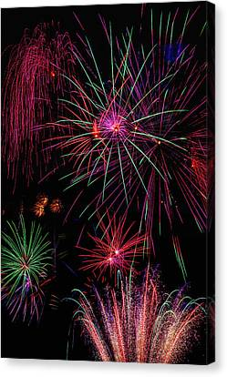 Astonishing Fireworks Canvas Print