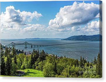 Astoria - Megler Bridge Canvas Print by Jon Burch Photography