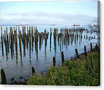 Astoria Ships  Canvas Print