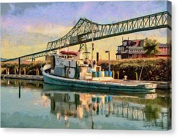 Astoria Waterfront, Scene 1 Canvas Print by Jeff Kolker