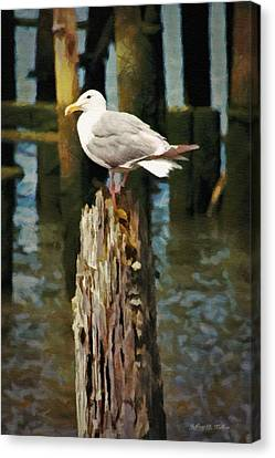 Astoria Waterfront, Scene 2 - Post Posing Canvas Print by Jeff Kolker