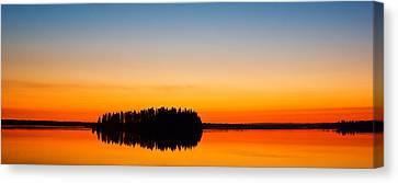 Astotin Sunset Canvas Print by Ian MacDonald
