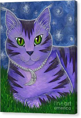 Astra Celestial Moon Cat Canvas Print by Carrie Hawks