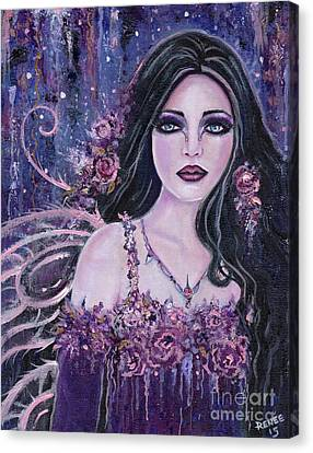 Astract Rose Fairy Canvas Print by Renee Lavoie