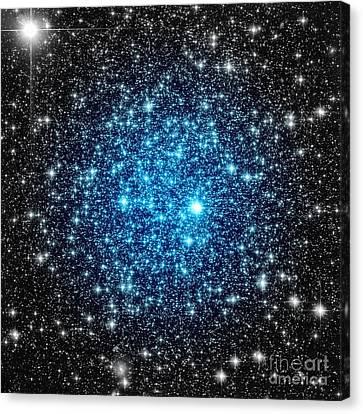 Glitter Canvas Print - Astral Glitter Blue Focus by Johari Smith