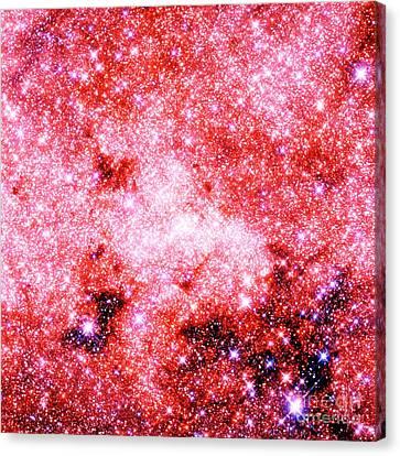 Glitter Canvas Print - Astral Glitter Milky Way Pink Lavender by Johari Smith
