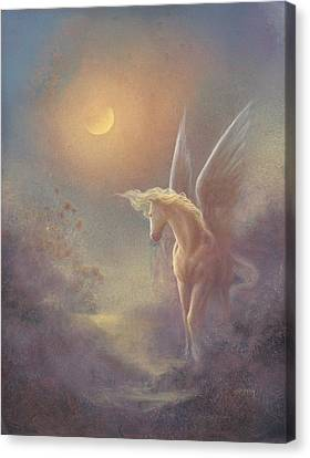 Astral Pegasus Canvas Print by Jack Shalatain