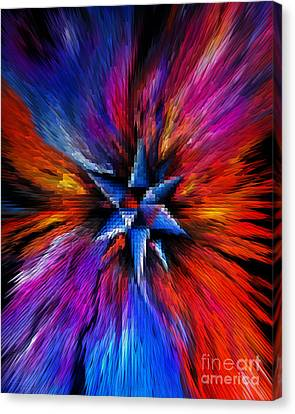 Astral Travel. Mind Is Out Of Control. Digital Art Canvas Print by Sofia Metal Queen