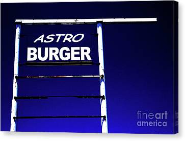 Canvas Print featuring the photograph Astro Burger by Jim and Emily Bush