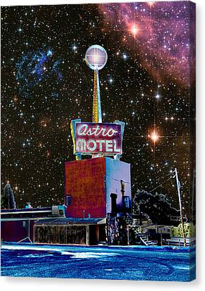Canvas Print featuring the photograph Astro Motel by Jim and Emily Bush