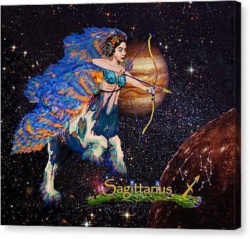 Astrology Sagittarius Angel  Canvas Print by Michele Avanti