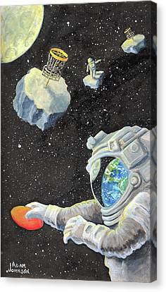 Astronaut Disc Golf Canvas Print
