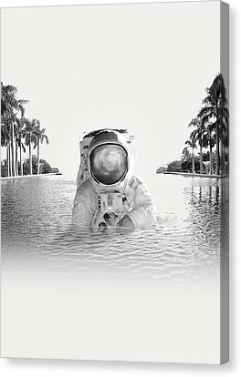 Astronaut Canvas Print by Fran Rodriguez