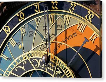 Astronomical Clock Prague Canvas Print