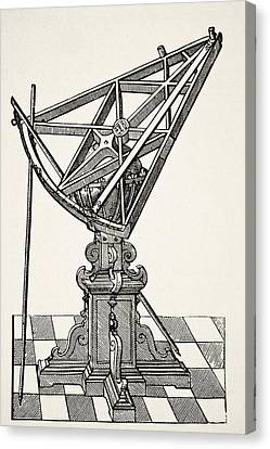 Astronomical Canvas Print - Astronomical Sextant For Measuring by Vintage Design Pics