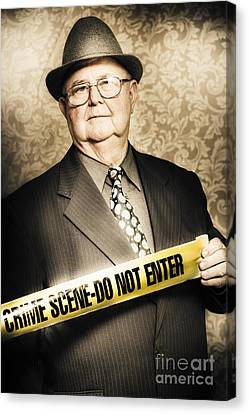 Law Enforcement Canvas Print - Astute Fifties Crime Scene Investigator by Jorgo Photography - Wall Art Gallery