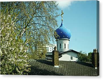 Russian Cross Canvas Print - Asure Dome by Douglas Barnett