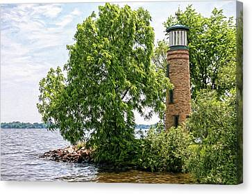 Asylum Point Lighthouse 1 Canvas Print by Trey Foerster