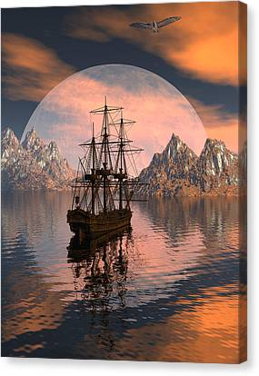 At Anchor Canvas Print by Claude McCoy