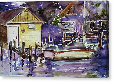 At Boat House 3 Canvas Print by Xueling Zou