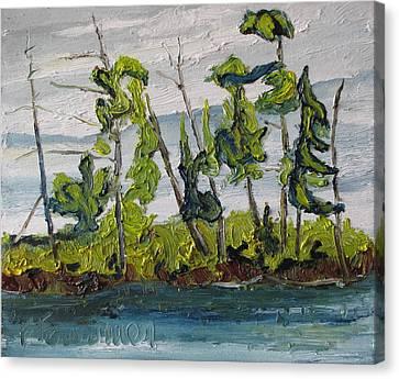 At Burbue Lake No 2 Canvas Print by Francois Fournier