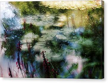 Canvas Print featuring the photograph At Claude Monet's Water Garden 2 by Dubi Roman