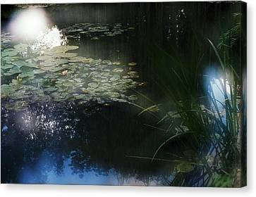 Canvas Print featuring the photograph At Claude Monet's Water Garden 3 by Dubi Roman