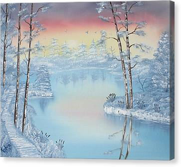 Bob Ross Canvas Print - At Dawns Light  by Kimber  Butler