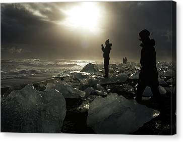 Canvas Print featuring the photograph The Diamond Beach, Jokulsarlon, Iceland by Dubi Roman