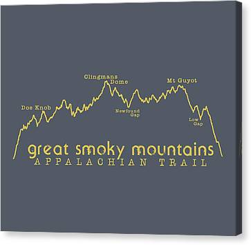 At Elevation Profile Gsm Mustard Canvas Print by Heather Applegate