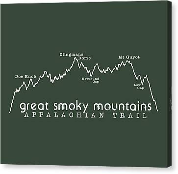 At Elevation Profile Gsm White Canvas Print by Heather Applegate