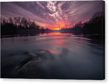 Canvas Print featuring the photograph At End Of The Day by Davorin Mance