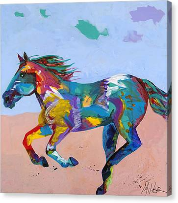 At Full Gallop Canvas Print by Tracy Miller