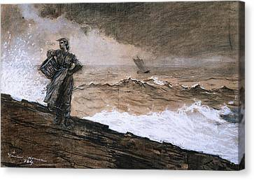At High Sea Canvas Print by Winslow Homer