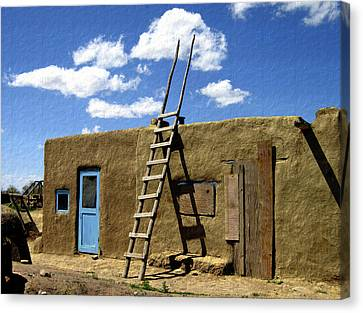 At Home Taos Pueblo Canvas Print by Kurt Van Wagner