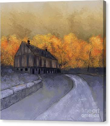 Canvas Print featuring the digital art At Just Dawn by Lois Bryan
