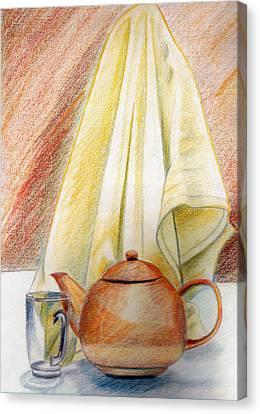 At Kitchen Canvas Print by Zara GDezfuli