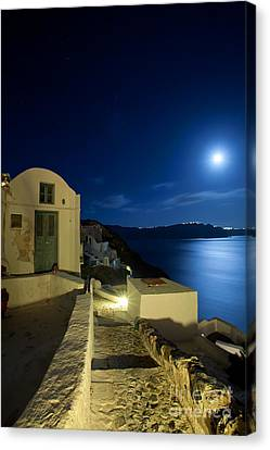 Canvas Print featuring the photograph At Midnight by Aiolos Greek Collections