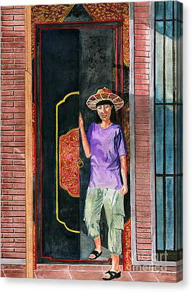 Canvas Print featuring the painting At Puri Kelapa by Melly Terpening