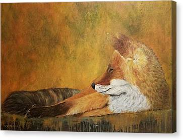 Canvas Print featuring the painting At Rest by Christie Minalga