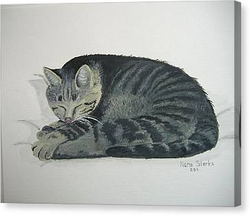 Canvas Print featuring the painting At Rest by Norm Starks