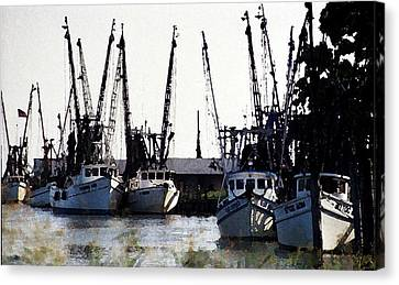 At Rest Watercolor Canvas Print by Michael Morrison