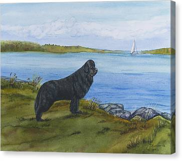 Canvas Print featuring the painting At Seneca Lake by Sharon Nummer