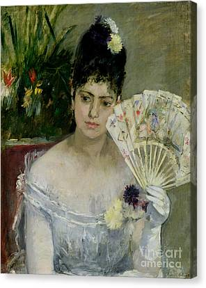 Gown Canvas Print - At The Ball by Berthe Morisot