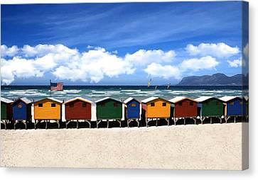 Canvas Print featuring the photograph At The Beach by David Dehner