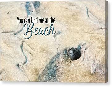 At The Beach Canvas Print by Lori Deiter