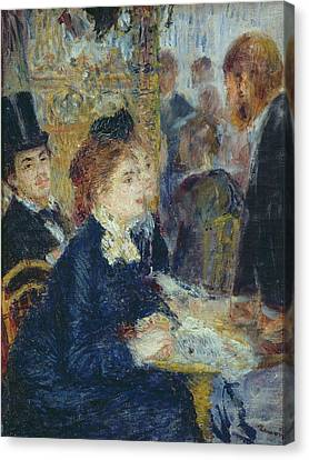 At The Cafe Canvas Print by Pierre Auguste Renoir